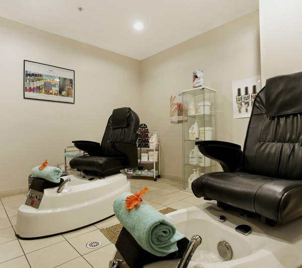 Spa pedicure treatment room