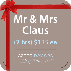 Mr and mrs claus package aztec day spa for Mr and mrs spa
